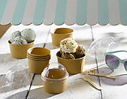 Eco Friendly Ice Cream Containers, Cups & Bowls by PacknWood.com