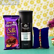 Buy / Send Beautiful Rakhi With Deo And Chocolate For BrotherOnline - OyeGifts