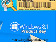 Why many PC users use Windows 8.1 Product Key from keyshoponline.com