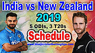 India vs New Zealand 2019: Schedule, Time Table, Match Timings