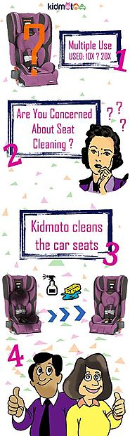 Airport taxi transportation with Clean Car Seats: KidMoto