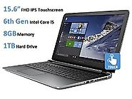 HP Pavilion 15t 15.6-Inch Touchscreen Laptop (6th Gen Intel Core i5-6200u Processor, 8GB DDR3L RAM, 1TB HDD, Windows ...