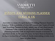 Best Wedding Events Italy - Book An Appointment