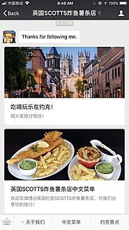 Example: Success on Chinese Social Media Marketing by a British restaurant