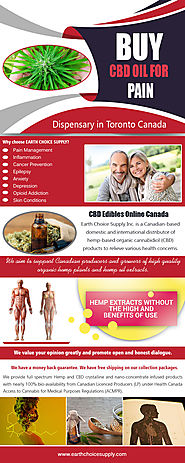 Best CBD Oil for Pain | Call Us - 416-922-7238 | earthchoicesupply.com