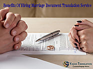 Benefits Of Hiring Marriage Document Translation Service