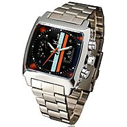 """THE WEEKEND RACER"" Men's sport automatic square face calendar watch"