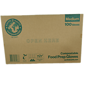 Earth2Earth Compostable Food Prep Gloves / 100 Gloves