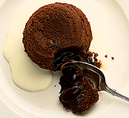 Mocha fondant puddings