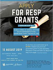 Apply for RESP Grant organized by Kamal Atwal