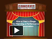 Hire or Rent a Stage for Planning a Performance or Presentation