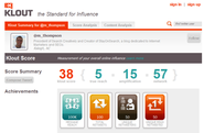 Influence scores for the users based on the received information