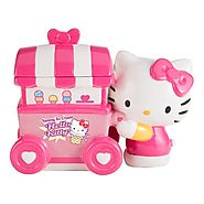 Vandor 18241 Limited Edition Hello Kitty Ice Cream Cart Ceramic Cookie Jar, Pink/White