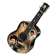 Elvis Presley Guitar Shaped Ceramic Cookie Jar: Elvis A Taste Of Rock 'N' Roll by The Bradford Exchange