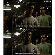 "Spotflik App - Movie Quote: ""Fight Club"" Join the... 