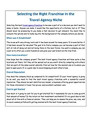 PPT - Selecting the Right Franchise in the Travel Agency Niche PowerPoint Presentation - ID:7964221