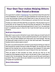 Your Own Tour makes Helping Others Plan Travel a Breeze