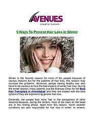 5 ways to prevent hair loss in winter