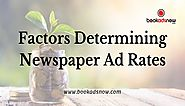 Factors Determining Newspaper Advertisement Rates