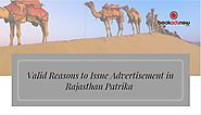 Valid Reasons to Issue Rajasthan Patrika Advertisement via Bookadsnow
