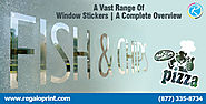 A Vast Range Of Window Stickers | A Complete Overview - Stickers Printing Solutions : powered by Doodlekit