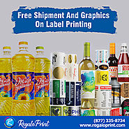 Free Shipment and Graphics on Label Printing | RegaloPrint