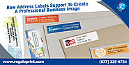 Labels Printing Service — How Address Labels Support To Create A Professional Business Image