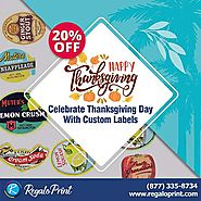 Celebrate Thanksgiving Day With Custom Labels | RegaloPrint