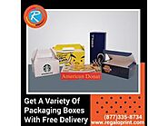Get A Variety Of Packaging Boxes With Free Delivery – RegaloPrint