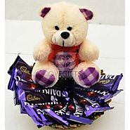 BEAUTIFUL TEDDY WITH DAIRY MILK