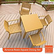 Compamia Artemis Resin Square Dining set