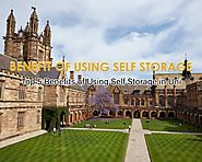 Top 5 Benefits of Using Self Storage in University - Blog