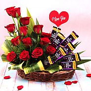 Buy or Order Affectionate Love Basket Online | Midnight Gifts Online - OyeGifts.com