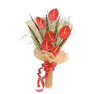 Red Anthuriums - Bouquet