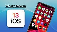 What is the advanced features in iOS 13 released?