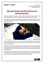 Why Eye Masks And Neck Pillows Are Getting Popular?