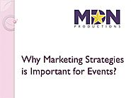 Why Marketing Strategies is Important for Events