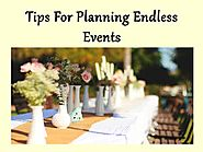 Tips For Planning Endless Events by mdnproductions - Issuu