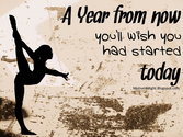 A Year from Now, You will wish you had started today