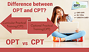 What is difference between OPT and CPT | OPT vs CPT
