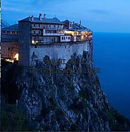 Mount Athos and some of its beautiful monasteries!!