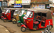 Take a ride through the city on a tuk-tuk