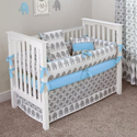Electric Blue 5 Piece Baby Bedding Set