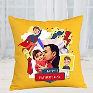 Buy or Order Father's Love Personalized Cushion Online , India's Best Gifting Website - OyeGifts