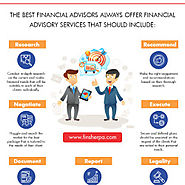THE BEST FINANCIAL ADVISORS ALWAYS OFFER FINANCIAL ADVISORY SERVICES THAT SHOULD INCLUDE | Visual.ly
