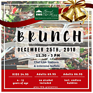 CELEBRATE WITH CHRISTMAS BRUNCH 2018 AT GRAND OLD HOUSE IN THE CAYMAN ISLANDS