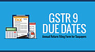 GSTR 9 Annual Return Filing Due Dates for Taxpayers