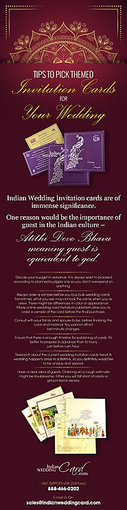 Tips to Pick Themed Invitation Cards For Your Wedding