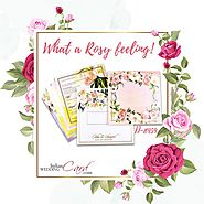 Rose Themed Wedding Invitations Card