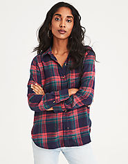 AHHMAZINGLY SOFT PLAID BOYFRIEND SHIRT